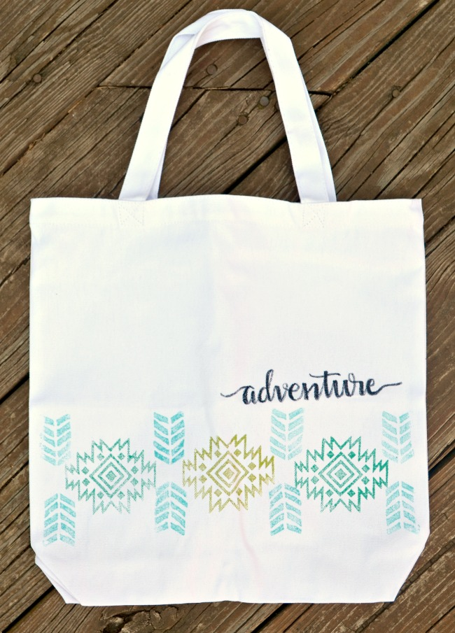 DIY Tribal Tote Bag