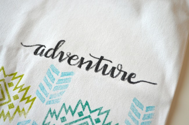 Hand Lettered Tote