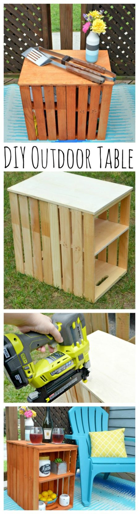 DIY Outdoor Crate Table