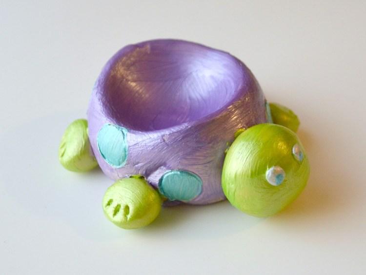 Clay Turtle DIsh