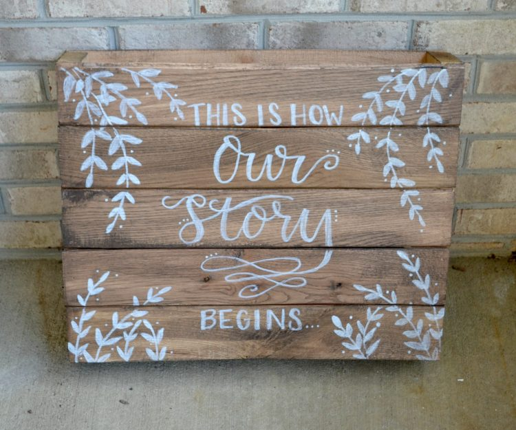 Rustic Wedding Sign: Hand Lettering