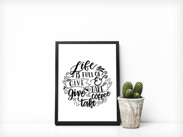 Free Hand Lettered Printable