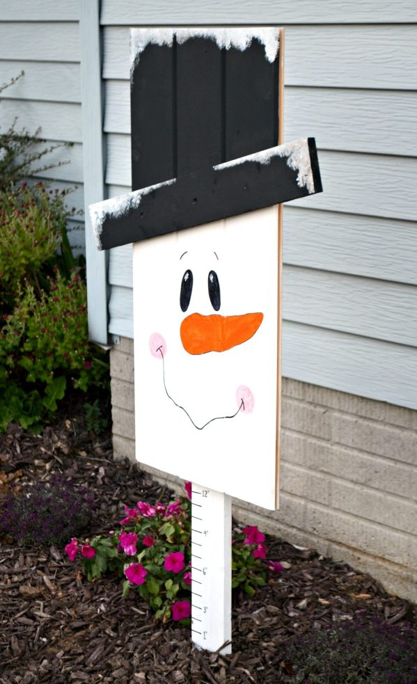Snowman Snow Measuring Stick
