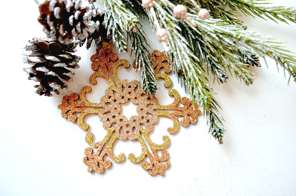Glittered Snowflake Ornament