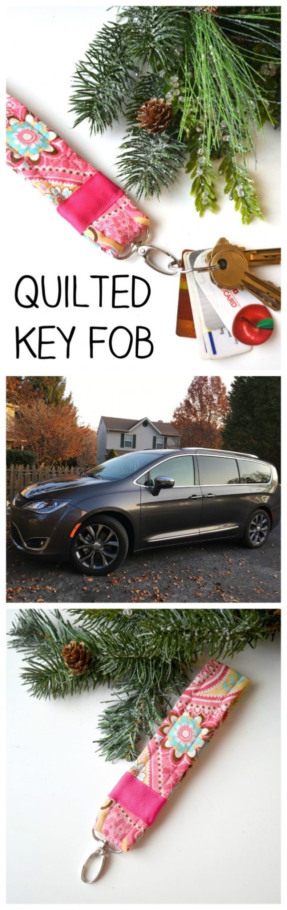Quilted Key Fob & Chrysler Pacifica