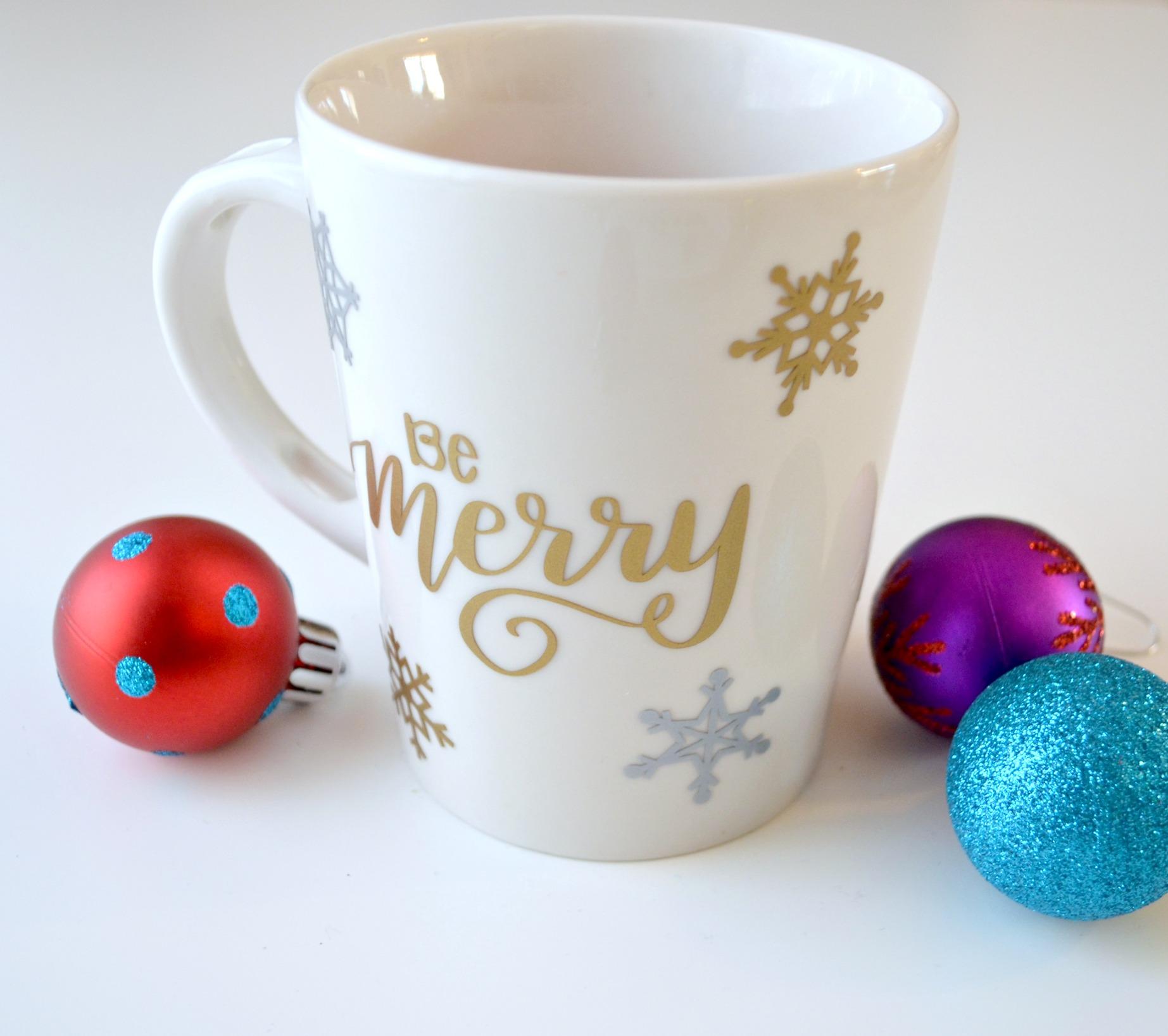 Hand Lettered Holiday Mug