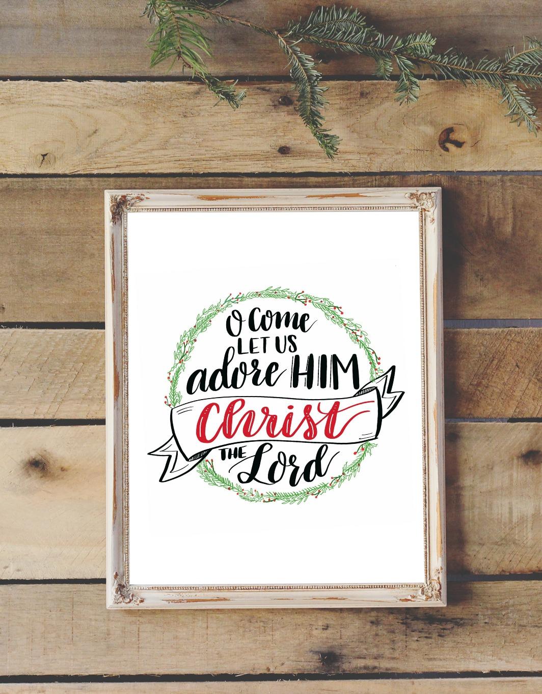 Hand Lettered Christmas Hymn Tutorial & Printable