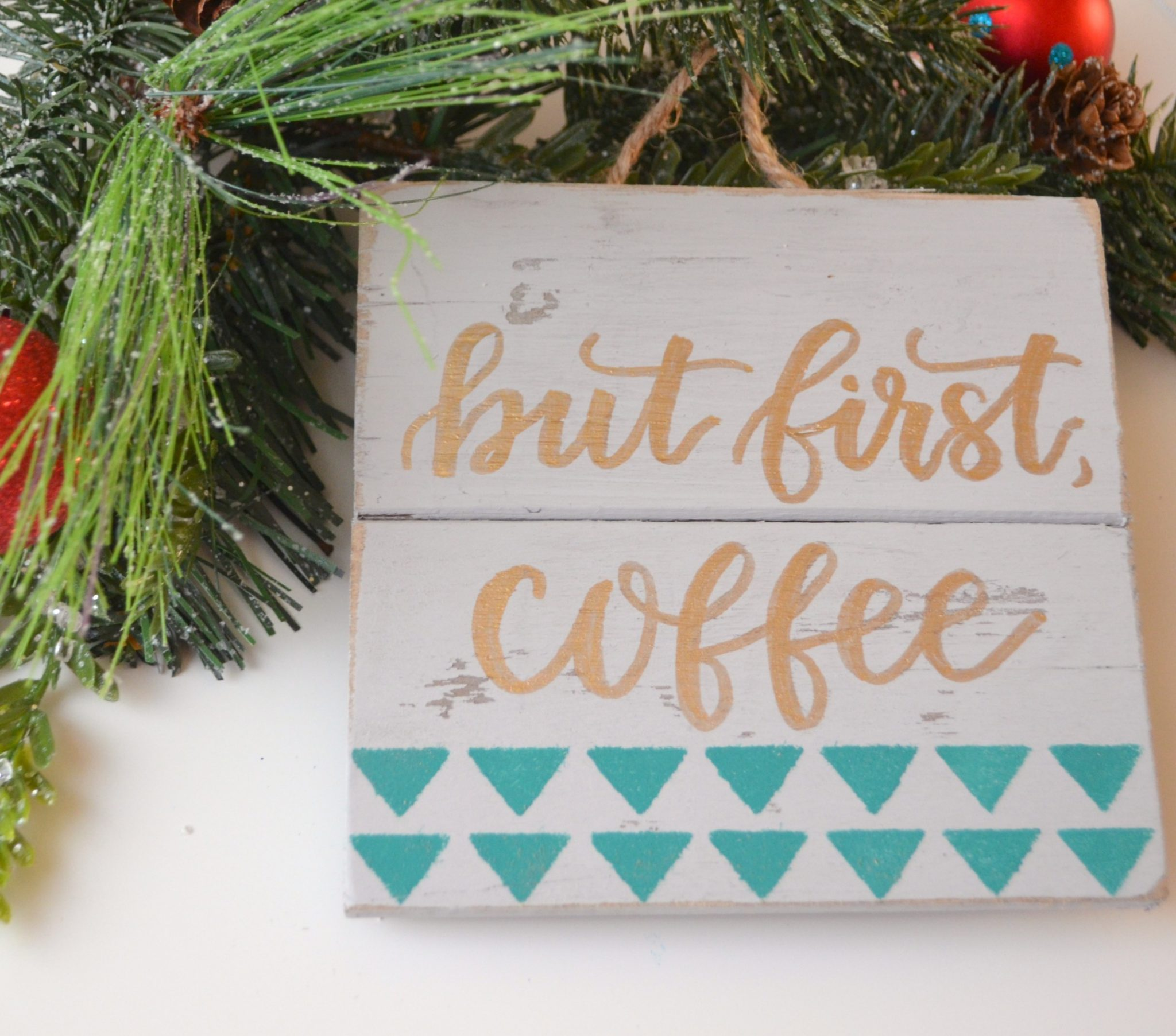 Lettered Coffee Sign
