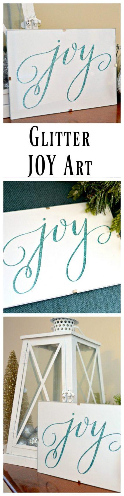 Glitter Joy Art for Christmas