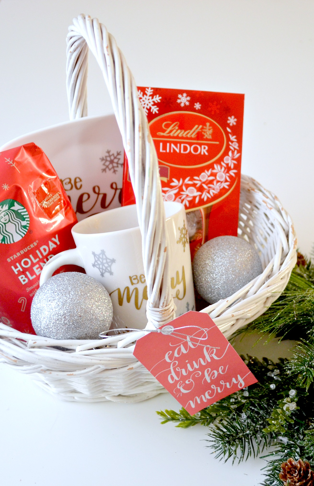 Starbucks and Lindt Coffee & Chocolate Christmas Gift Basket