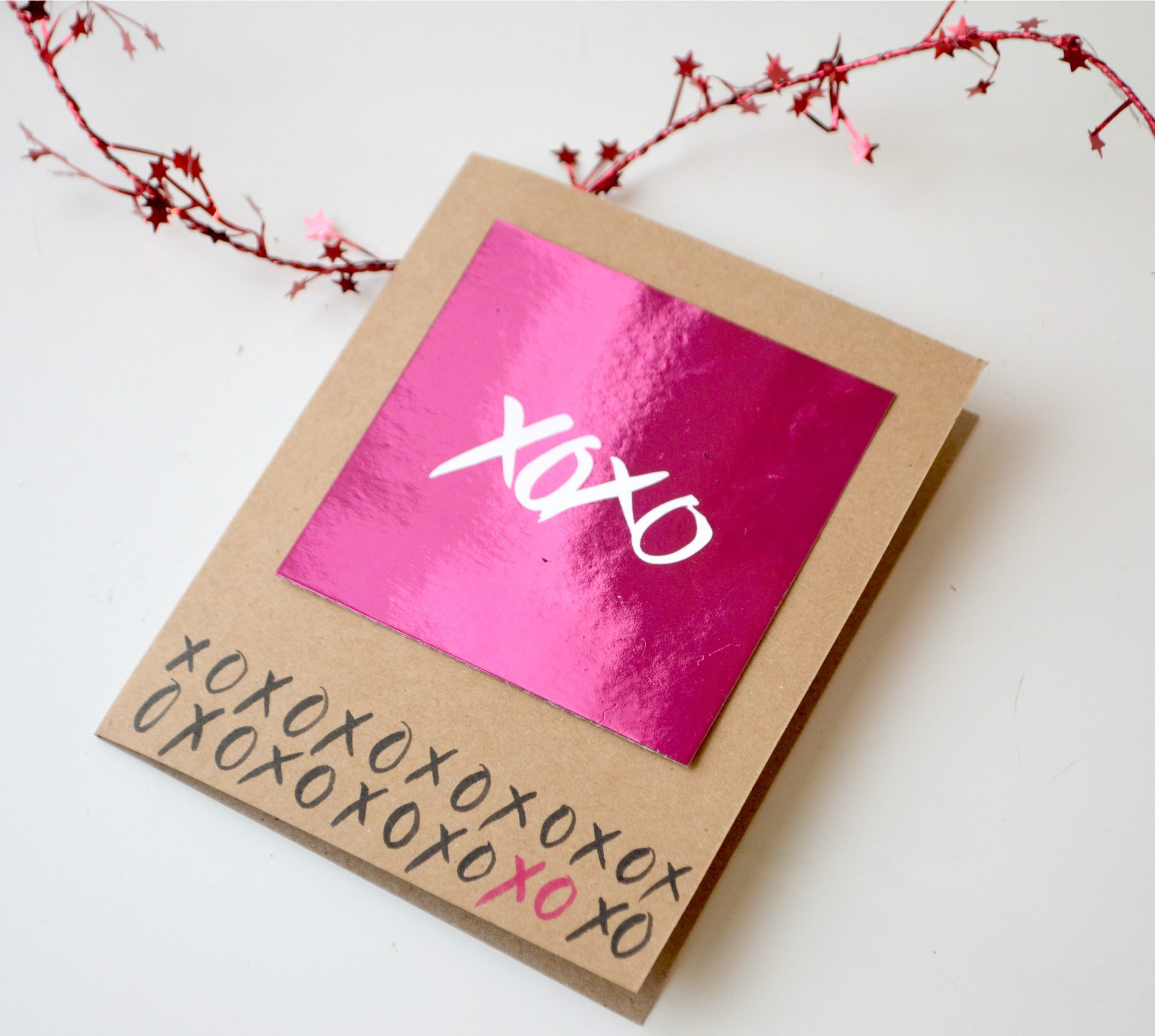 Foiled Valentine's Day Card