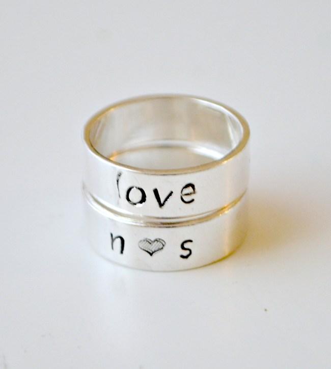 Metal Stamped Rings
