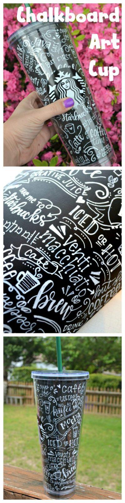 Chalkboard Art Coffee Cup