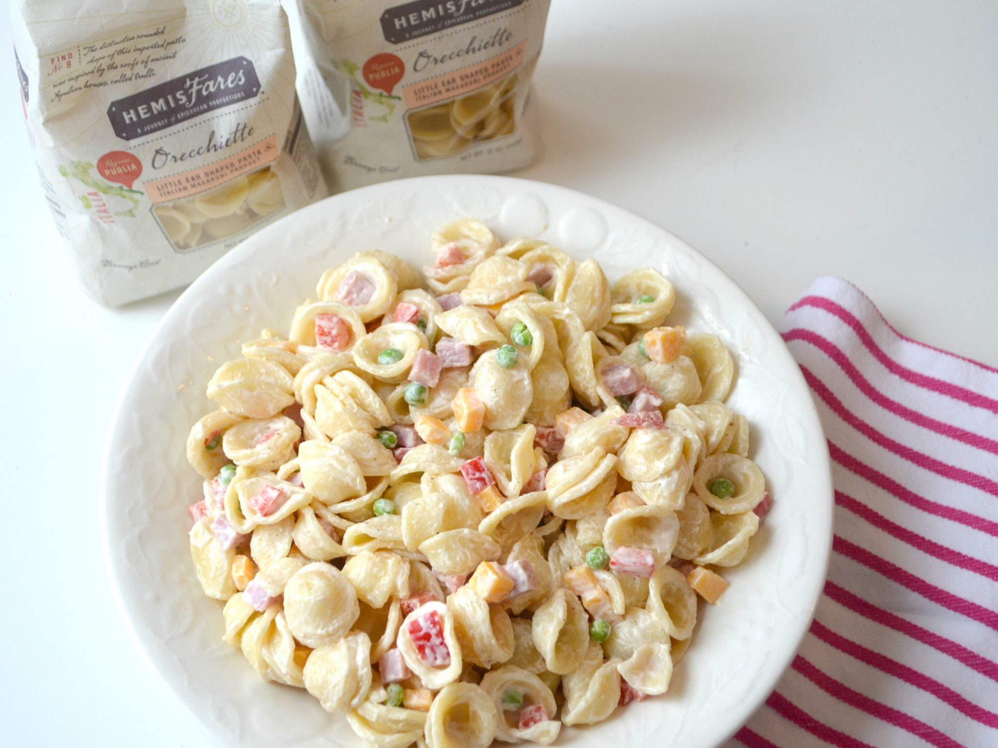 Quick Easy Creamy Pasta Salad Amy Latta Creations