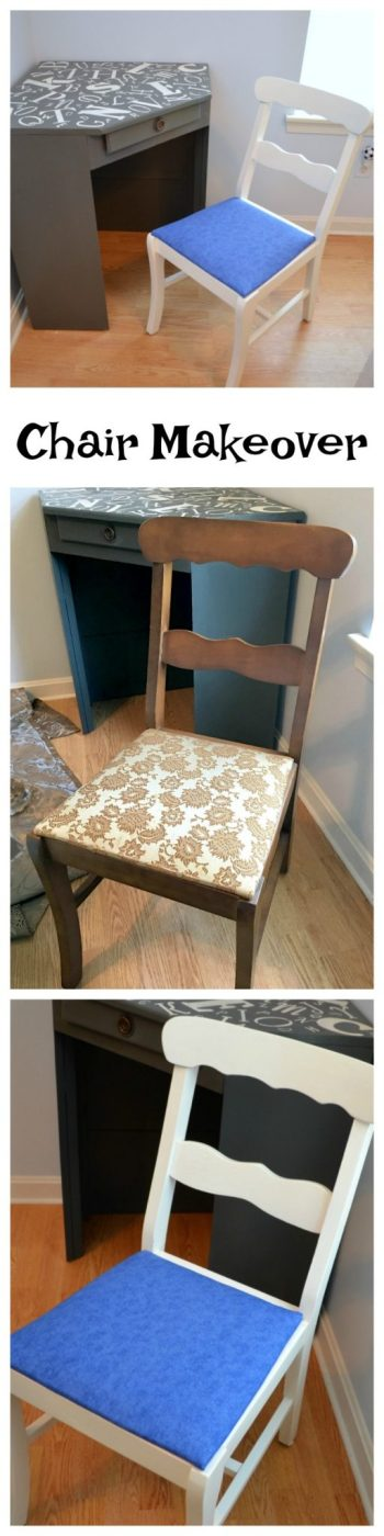 Awe Inspiring Desk Chair Makeover Amy Latta Creations Pabps2019 Chair Design Images Pabps2019Com