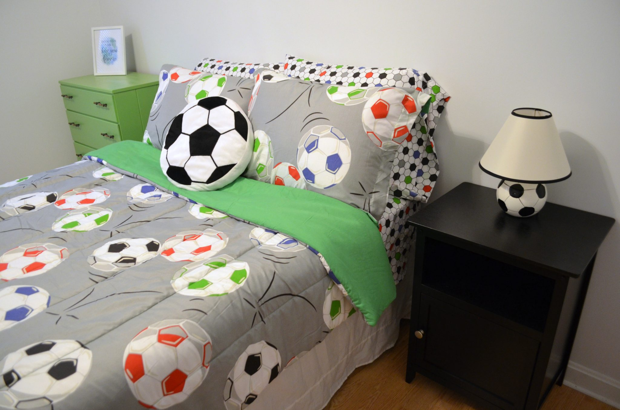 Boy's Soccer Bedroom