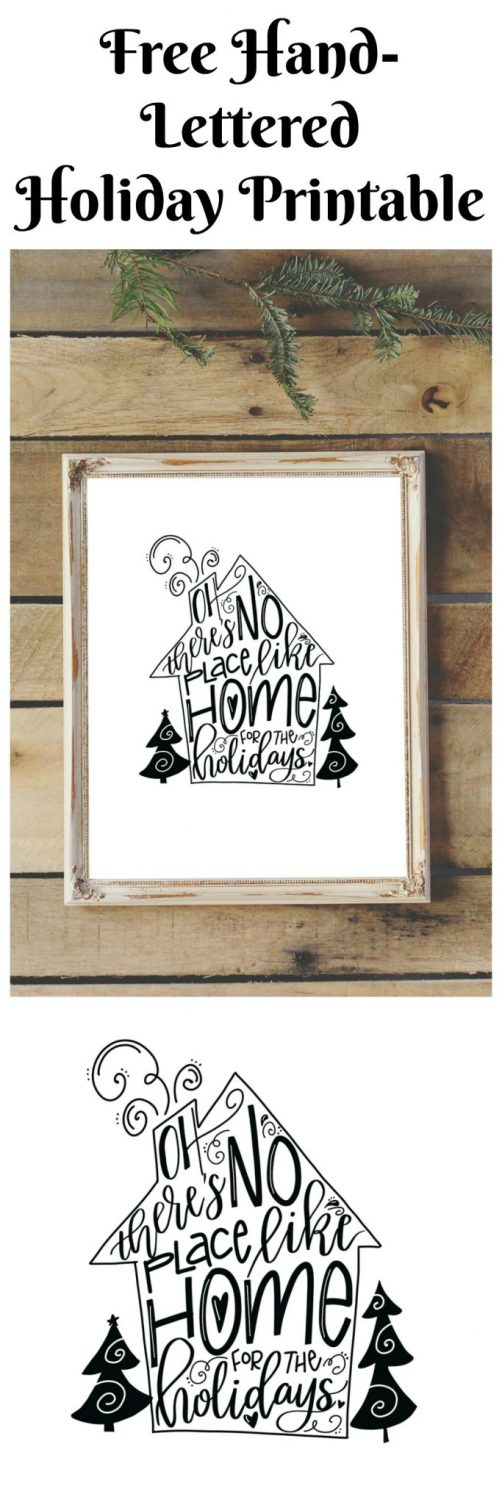 Free Hand-Lettered Holiday Printable