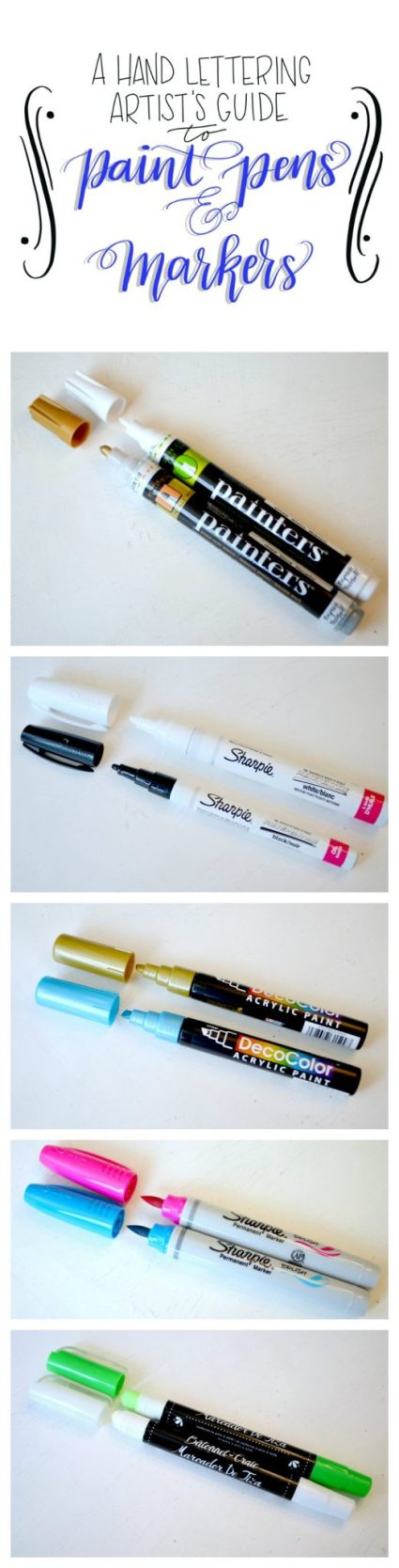 A Hand Lettering Artist's Guide to Paint Pens & Markers