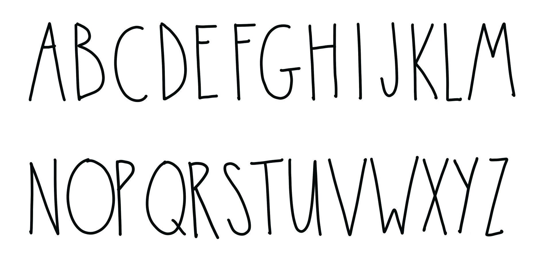 Rae Dunn Inspired Alphabet