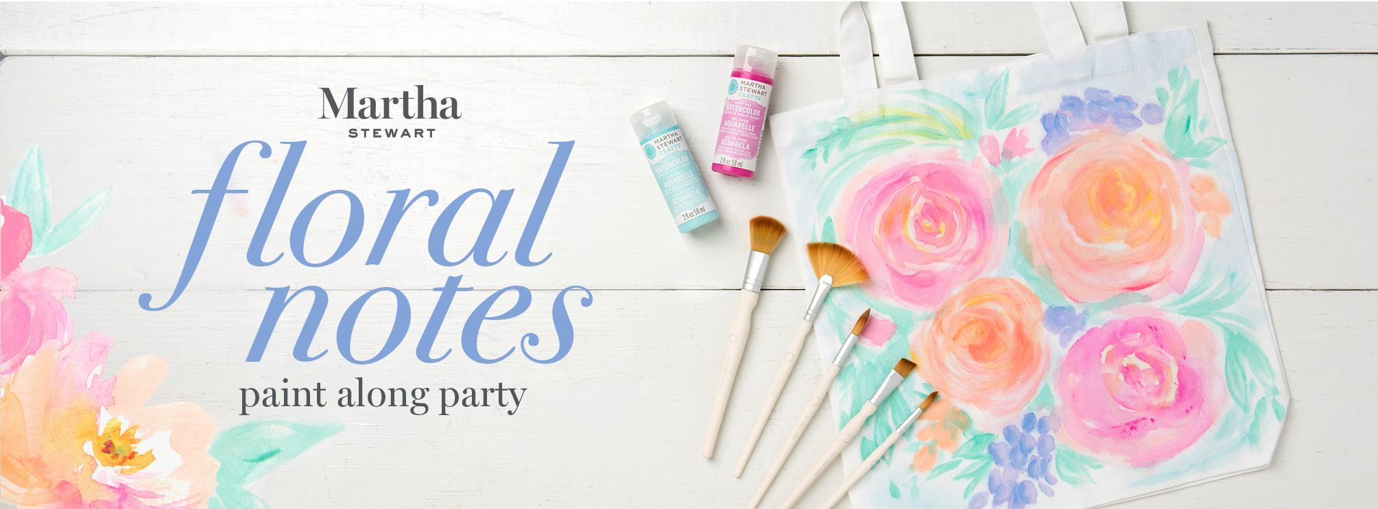 Martha Stewart Floral Notes Paint Along Party
