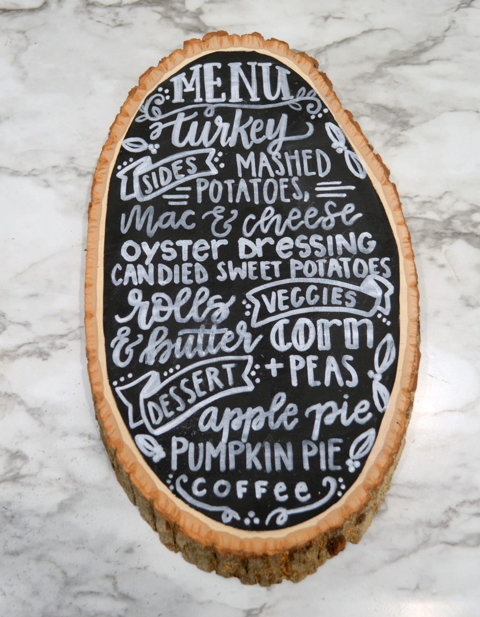 Hand Lettered Menu Board