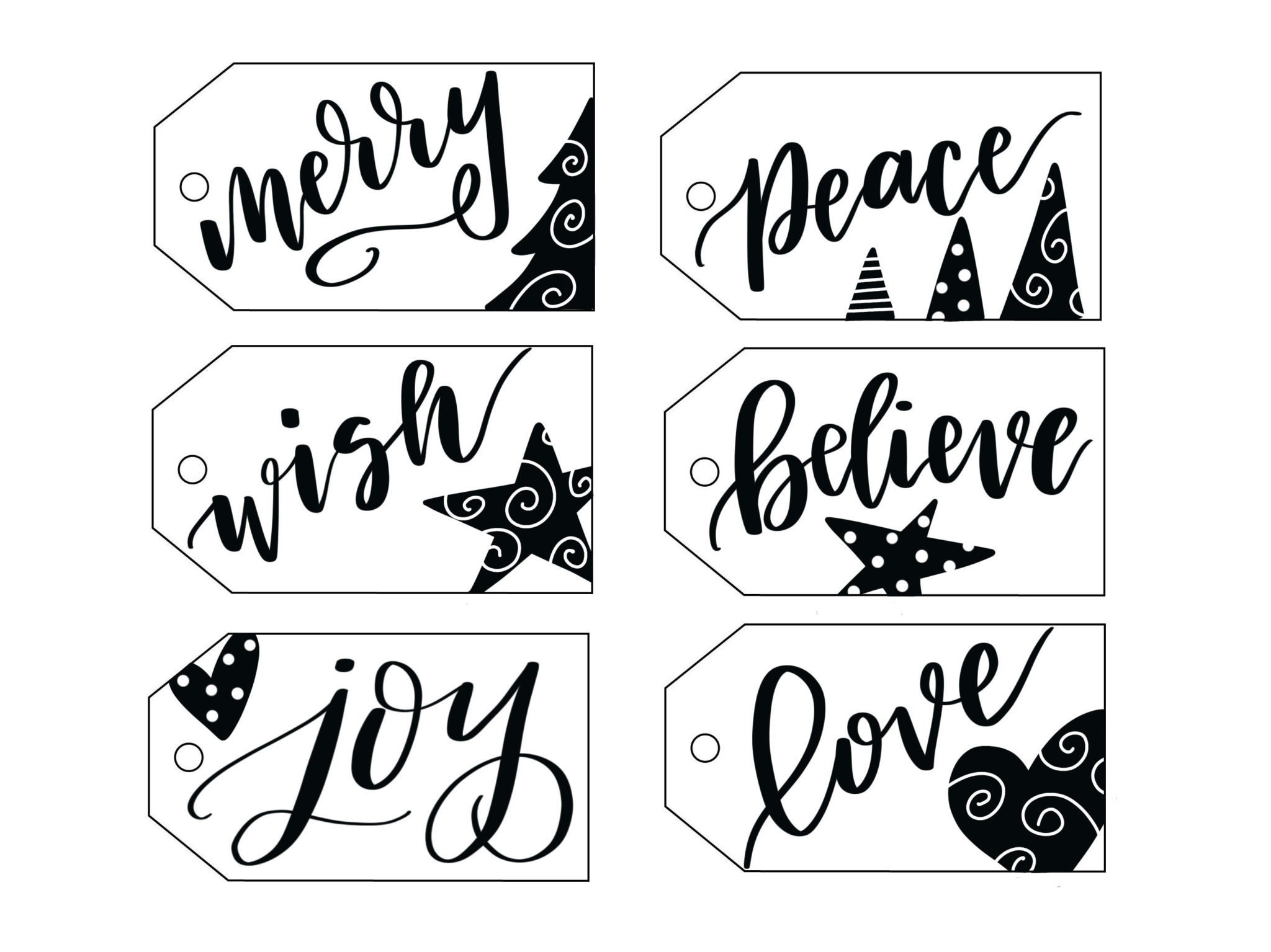 Free Printable Hand Lettered Gift Tags