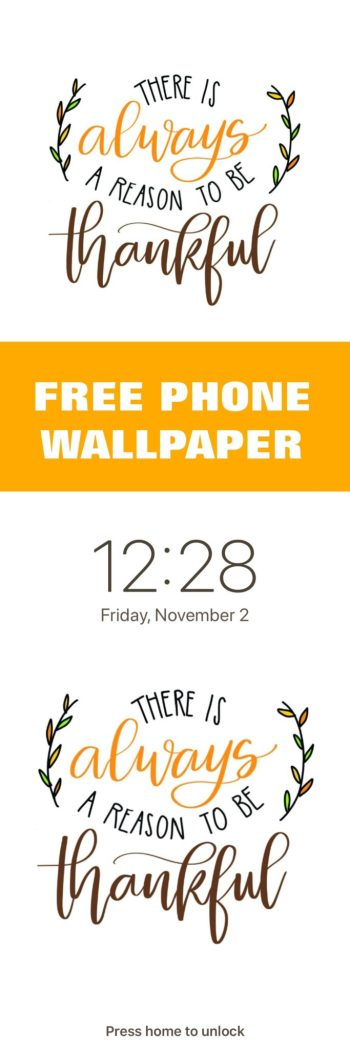 Free Thankful Wallpaper for Phone