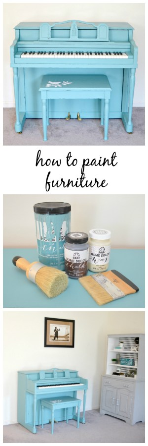 How to Paint Furniture: Painted Piano