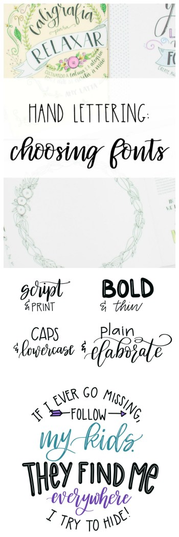 Hand Lettering: Choosing Your Fonts - Amy Latta Creations