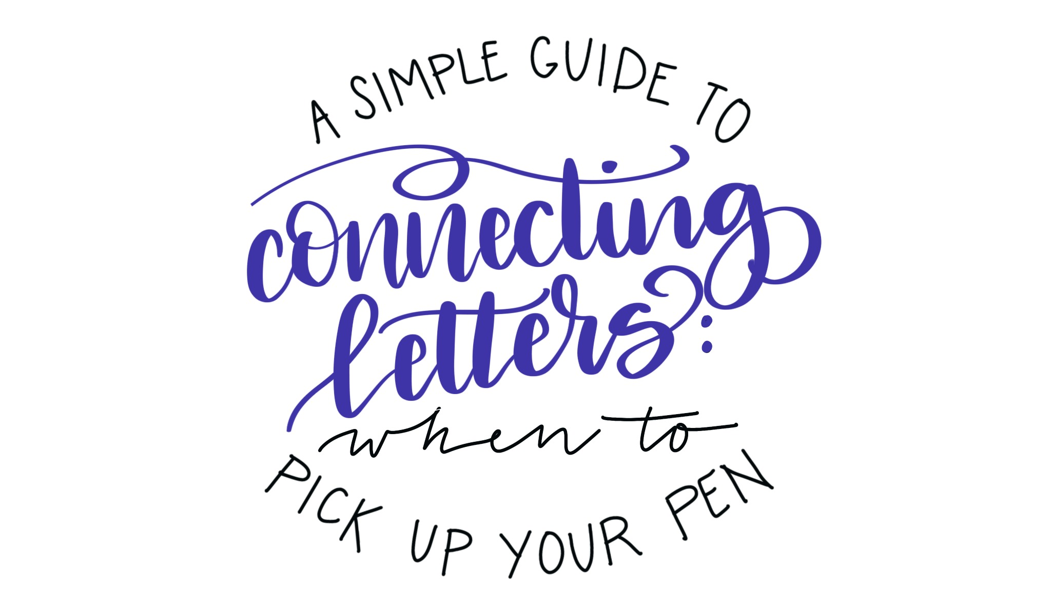 Hand Lettering: Connecting Letters