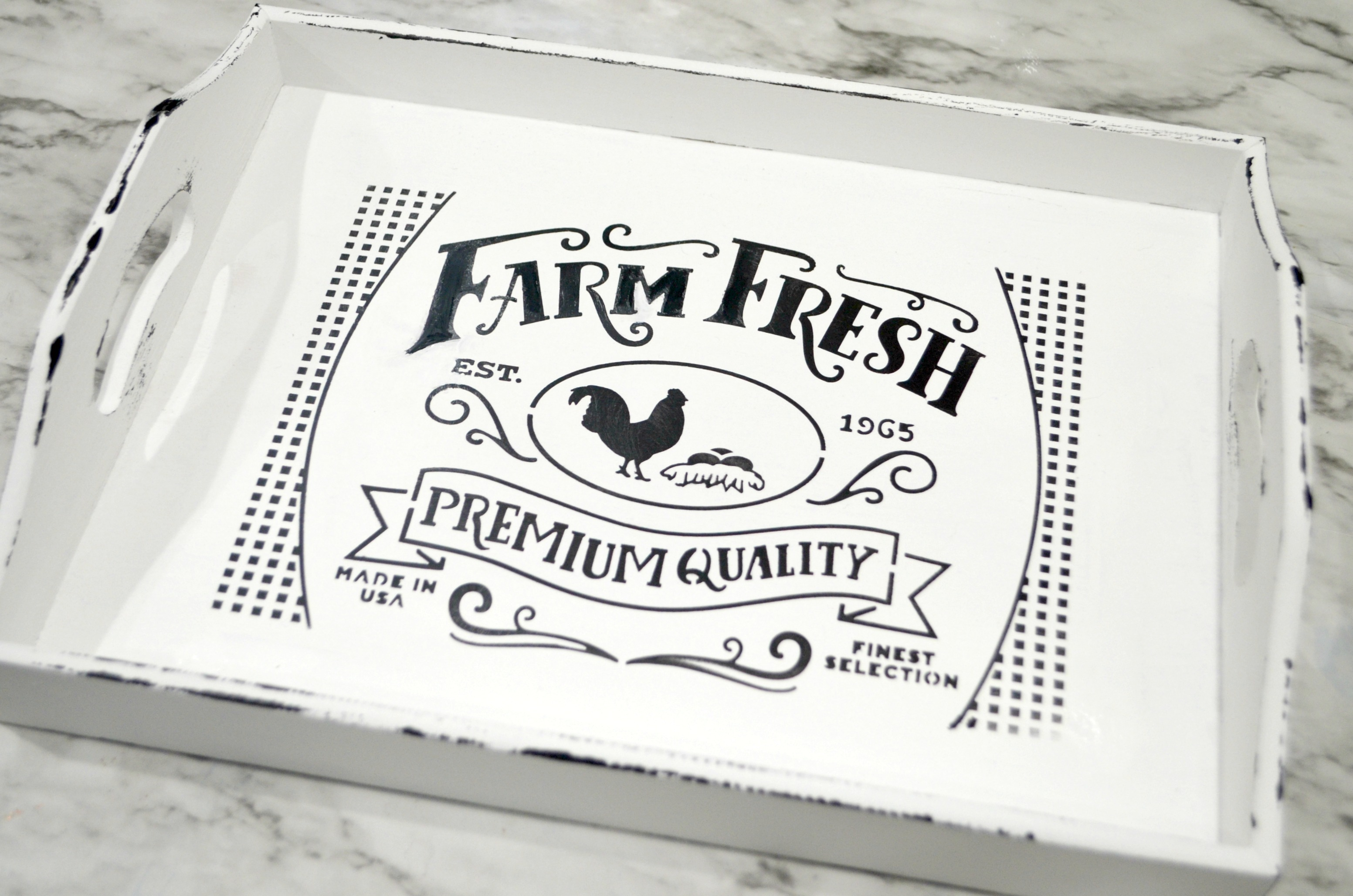 DIY Farmhouse Style Tray
