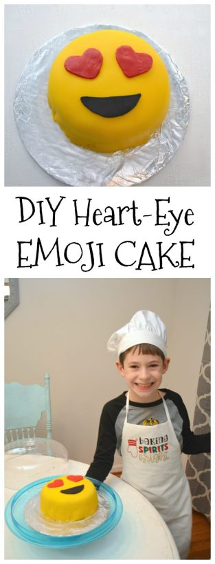 DIY Heart Eye Emoji Cake