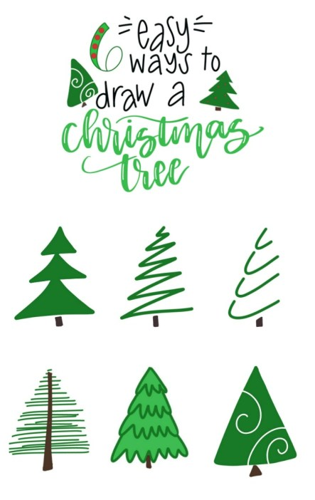 6 Easy Ways to Draw a Christmas Tree