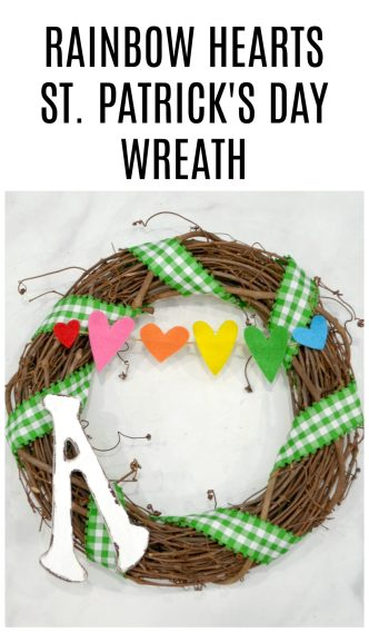 Rainbow Hearts St. Patrick's Day Wreath