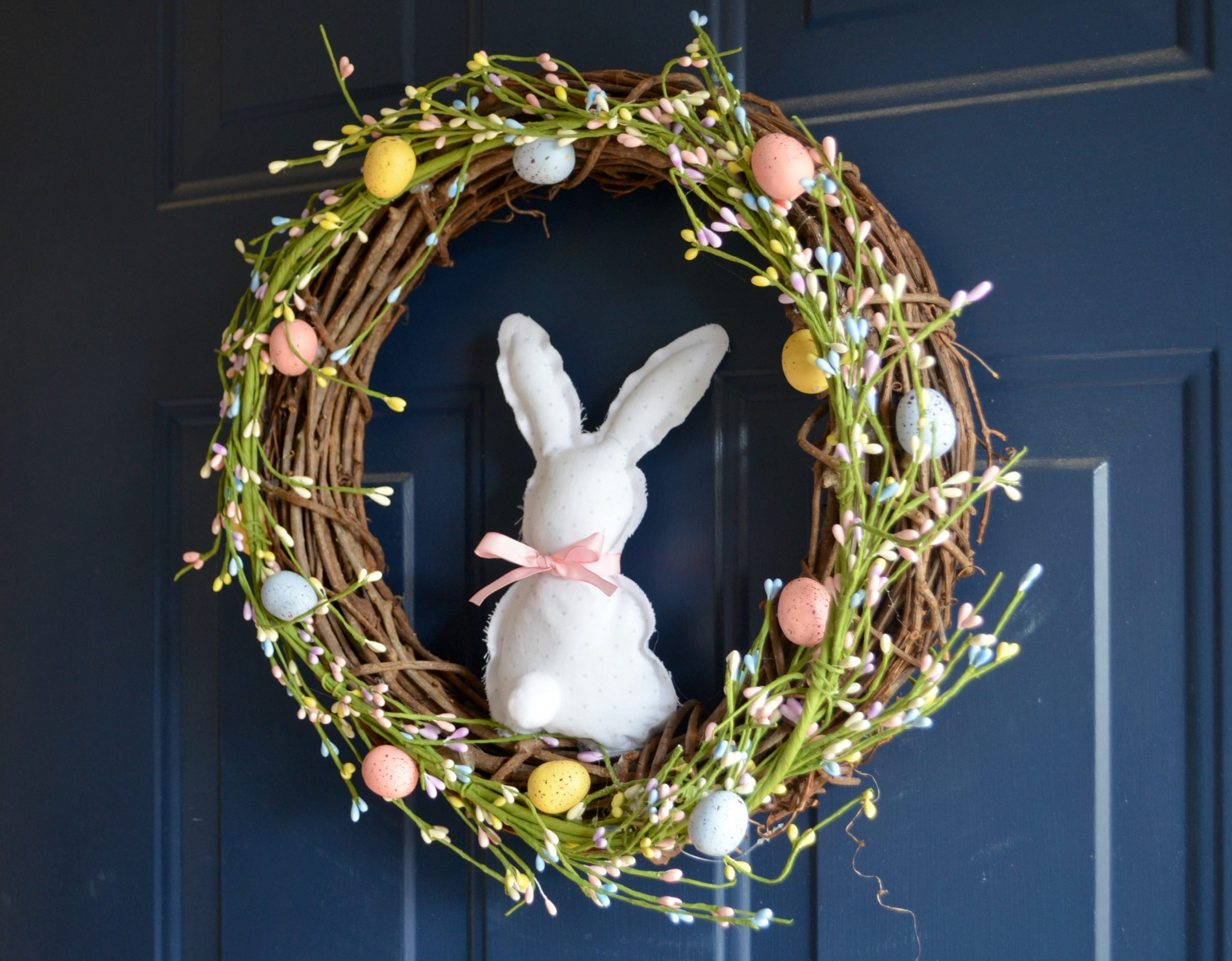 Farmhouse Bunny Spring Wreath