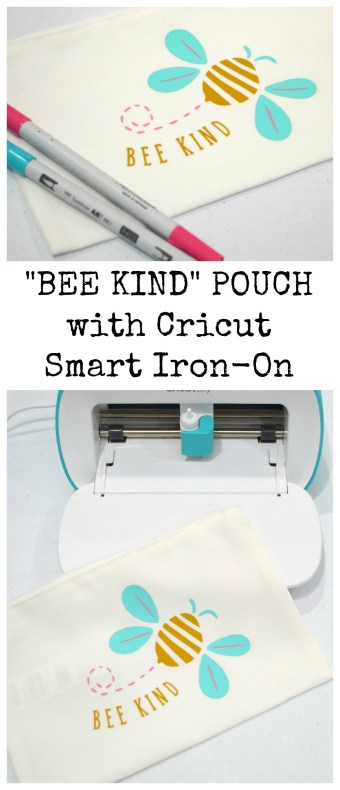 Bee Kind Pouch with Cricut Smart Iron-On