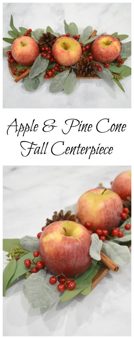 Apple & Pine Cone Fall Centerpiece