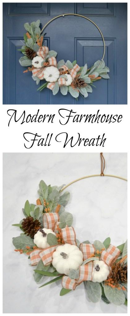 Modern Farmhouse Fall Wreath