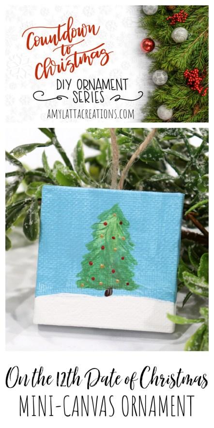 Mini-Canvas Ornament