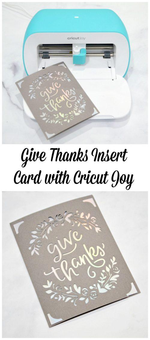 Give Thanks Insert Card with Cricut Joy