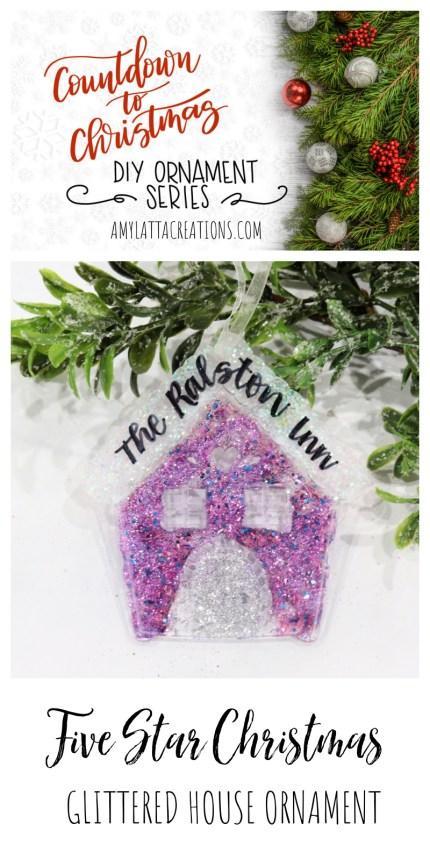 Glittered House Ornament