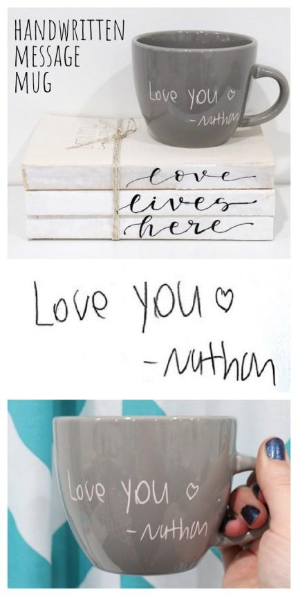 Handwritten Message Mug