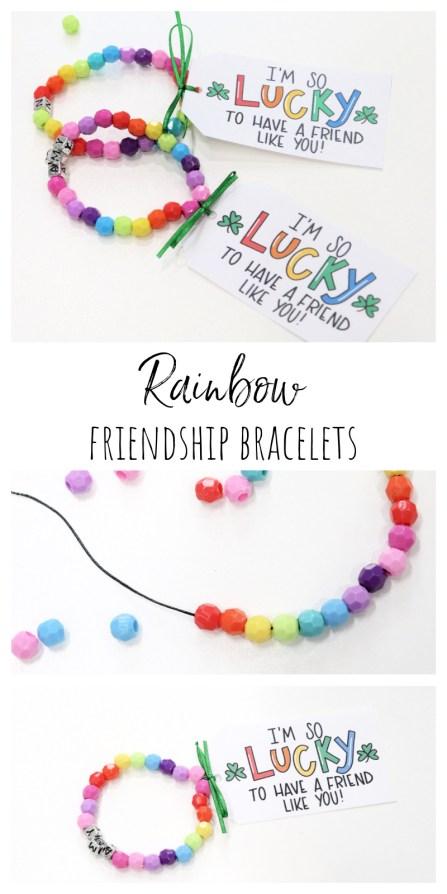 Rainbow Friendship Bracelets for St. Patrick's Day