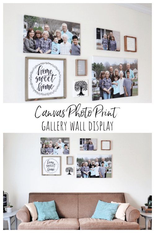 Canvas Photo Print Gallery Wall Display