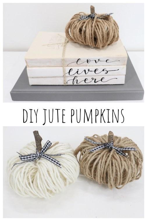 DIY Jute Pumpkins