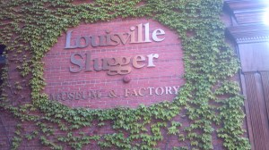 We passed the Louisville Slugger Factory on the route.