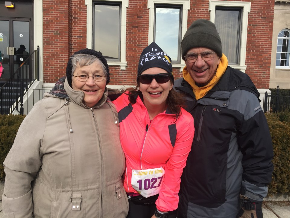 I love that my parents are the finish.