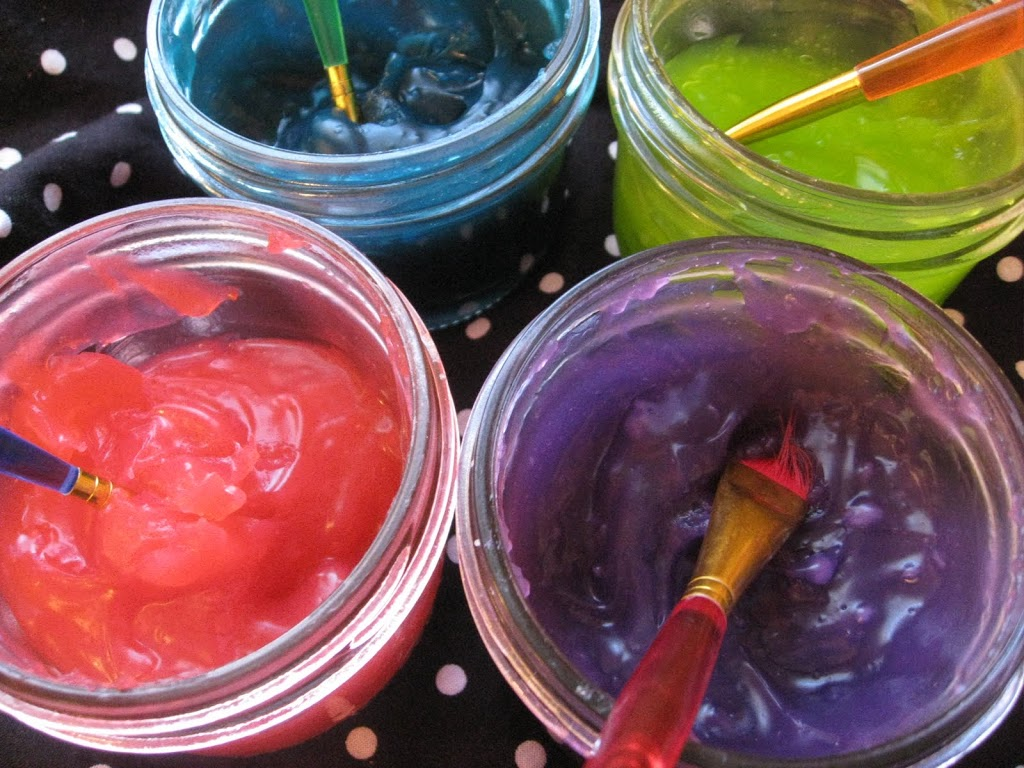 Homemade Scented Gel Paints
