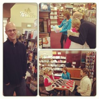 family time at bookstore