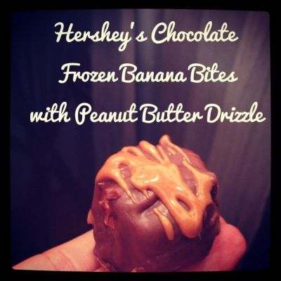 Frozen Banana Bites with chocolate and peanut butter